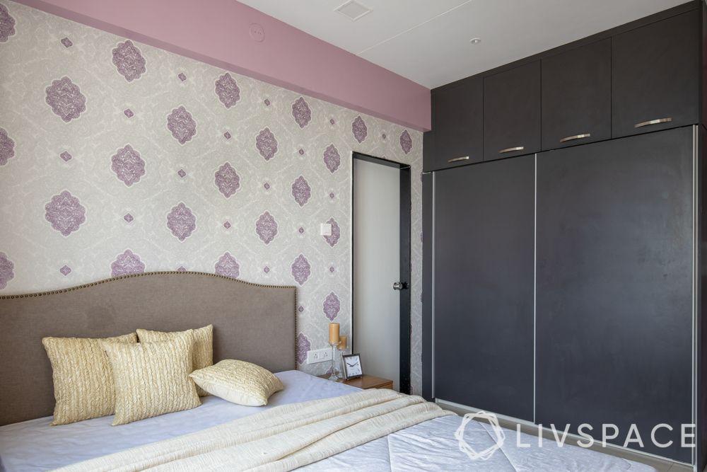 small bedroom cupboard designs-grey colour-loft