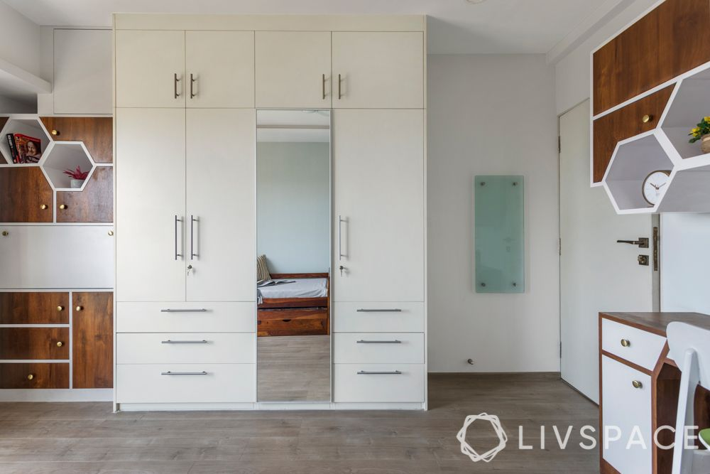 small bedroom cupboard designs-drawers-dressing unit