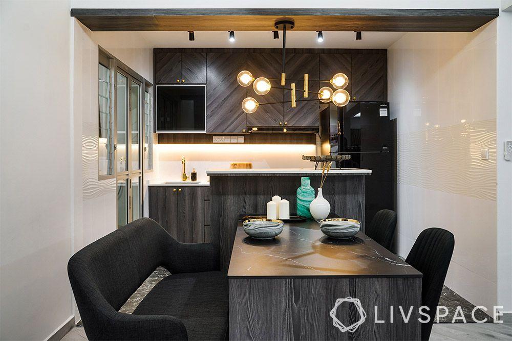 kitchen-ideas-singapore-black and white-island-storage
