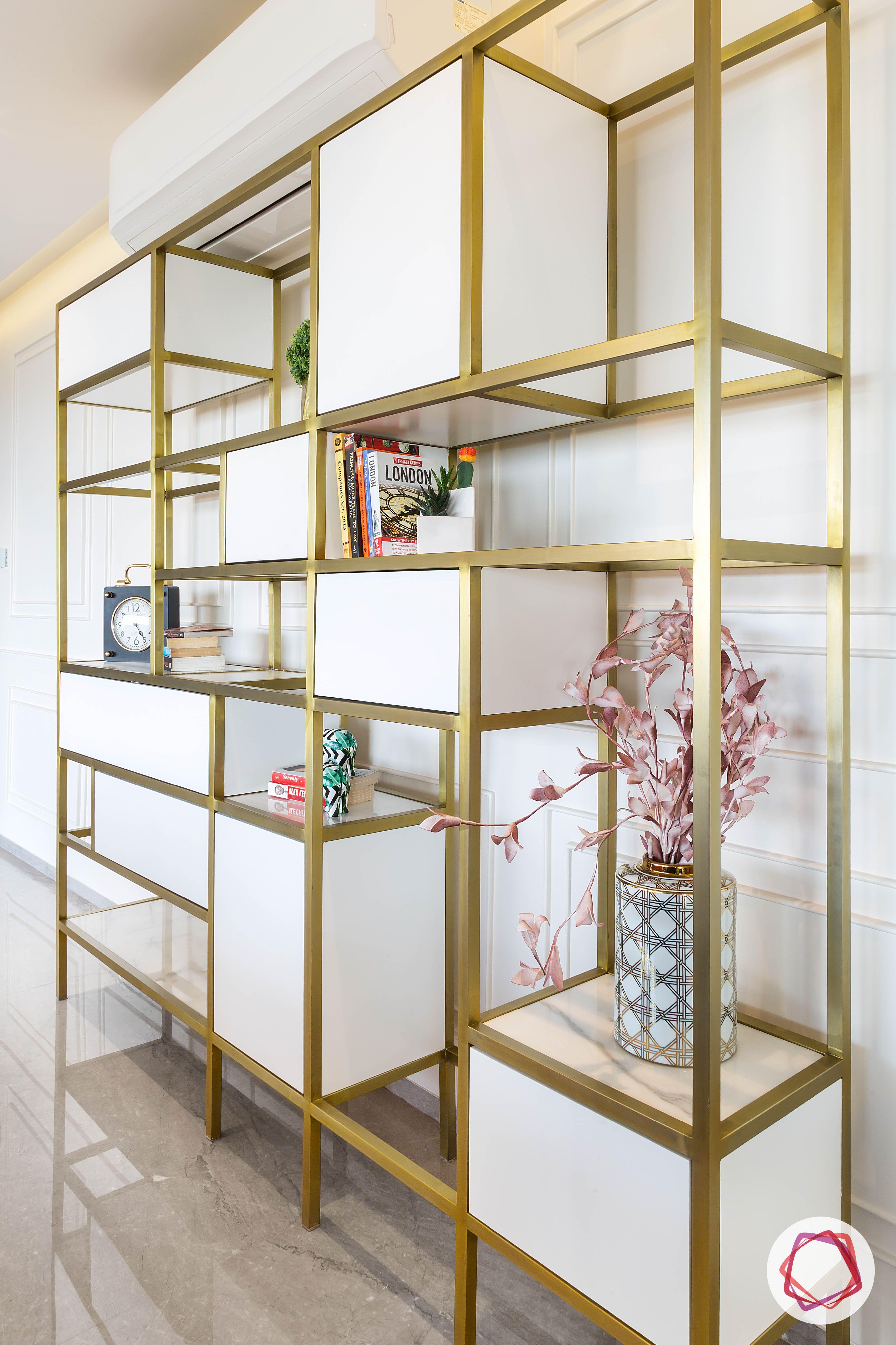 condo interior design-scandinavian-display-unit-designs-brass-display-unit