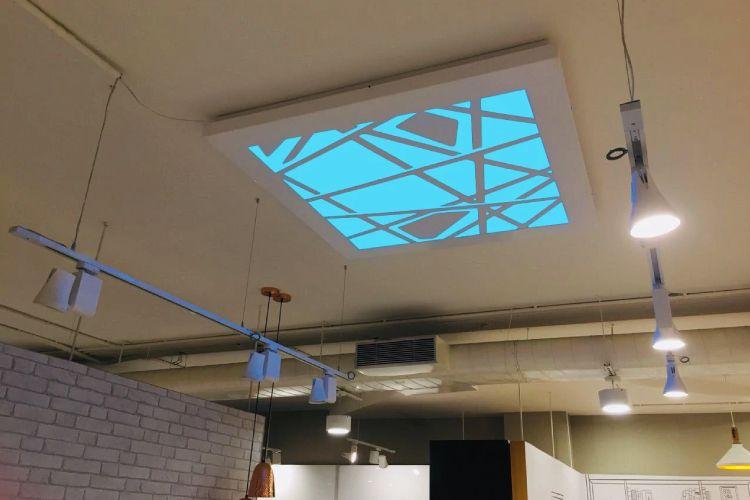 false ceiling lights-blue ceiling light-false ceiling-spot lighting