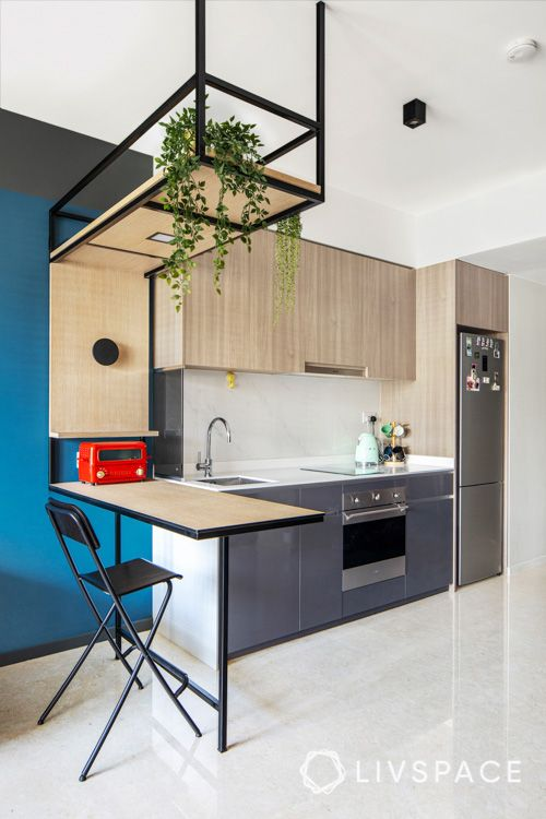 Kitchenette-dining-study-customised-island-counter-shelf-for-studio-condo-design-lifestlye-toaster-wooden-stand-for-cups-sink-faucet
