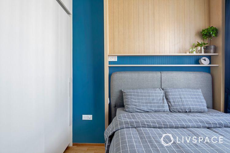 Storage-bed-wall-shelves-wardrobe-scandi-design-bedroom
