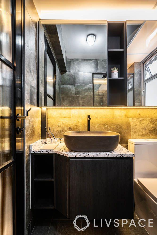 HDB bathroom_lighting_warm lighting-LED lights