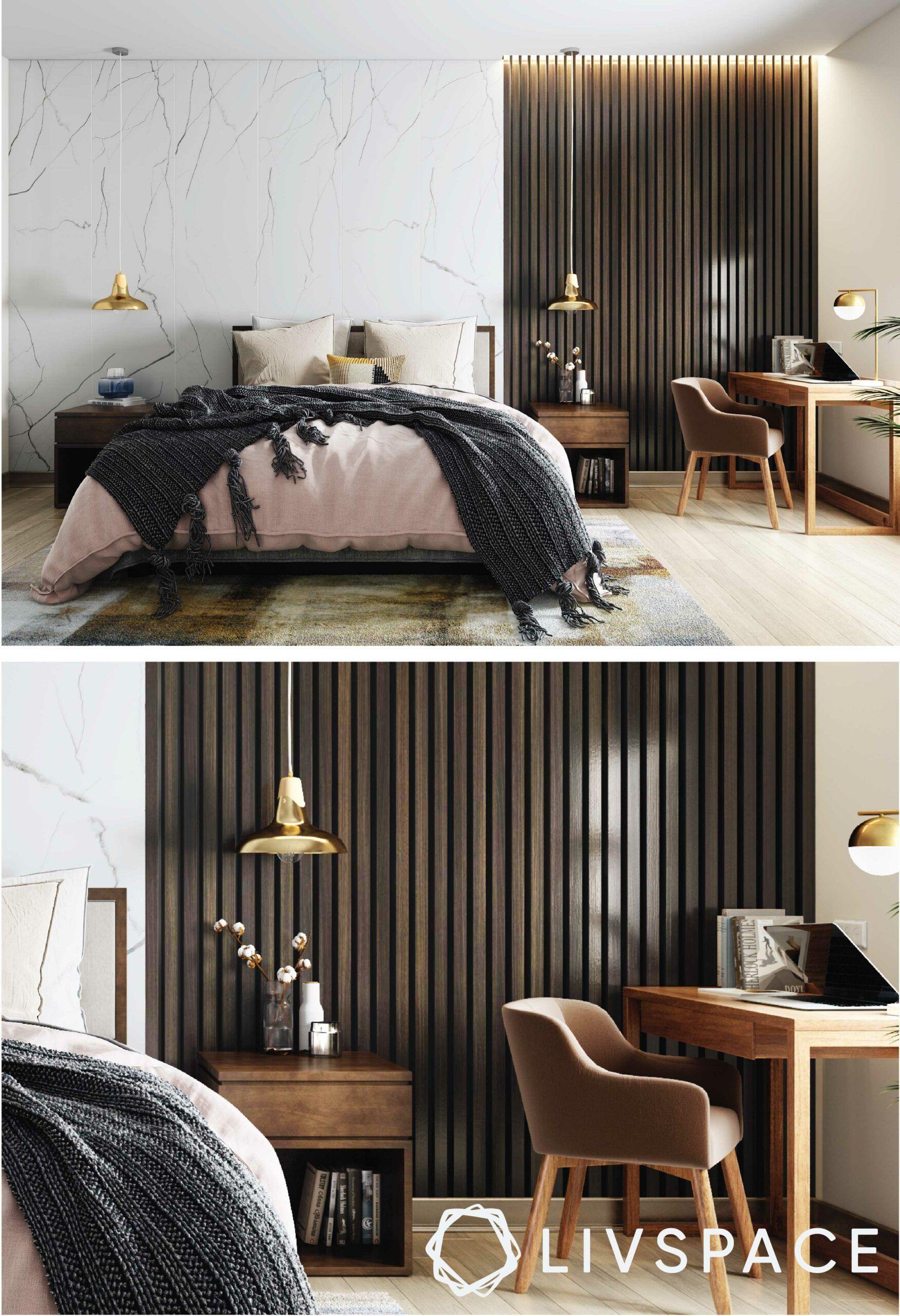 marble-wall-cladding-study-nook-bedroom
