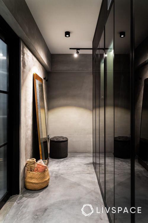 hdb bto-wardrobe-glass wardrobe-dressing area