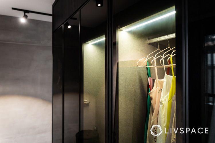 hdb bto-wardrobe lights-glass wardrobe