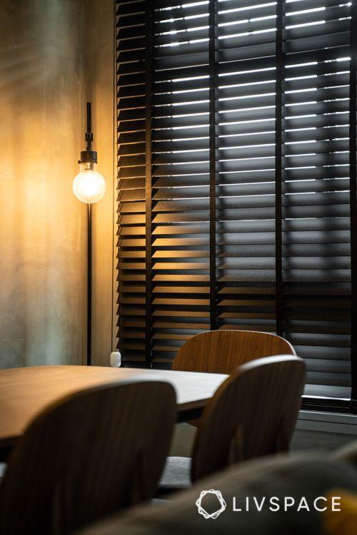 hdb bto-black floor lamp-industrial light