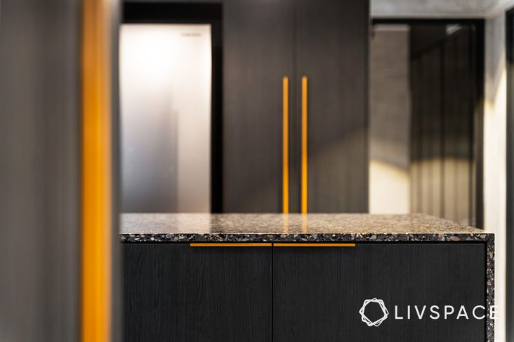 hdb renovation-terrazzo marble-island counter