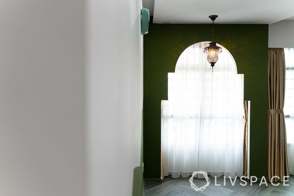 hdb 5 room design-arch-pendant lamp