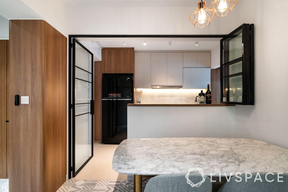hdb-singapore-outside-kitchen-view-cabinets