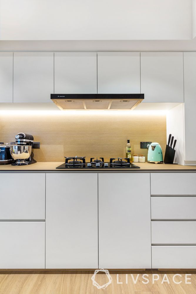 hdb design-white kitchen-handleless kitchen