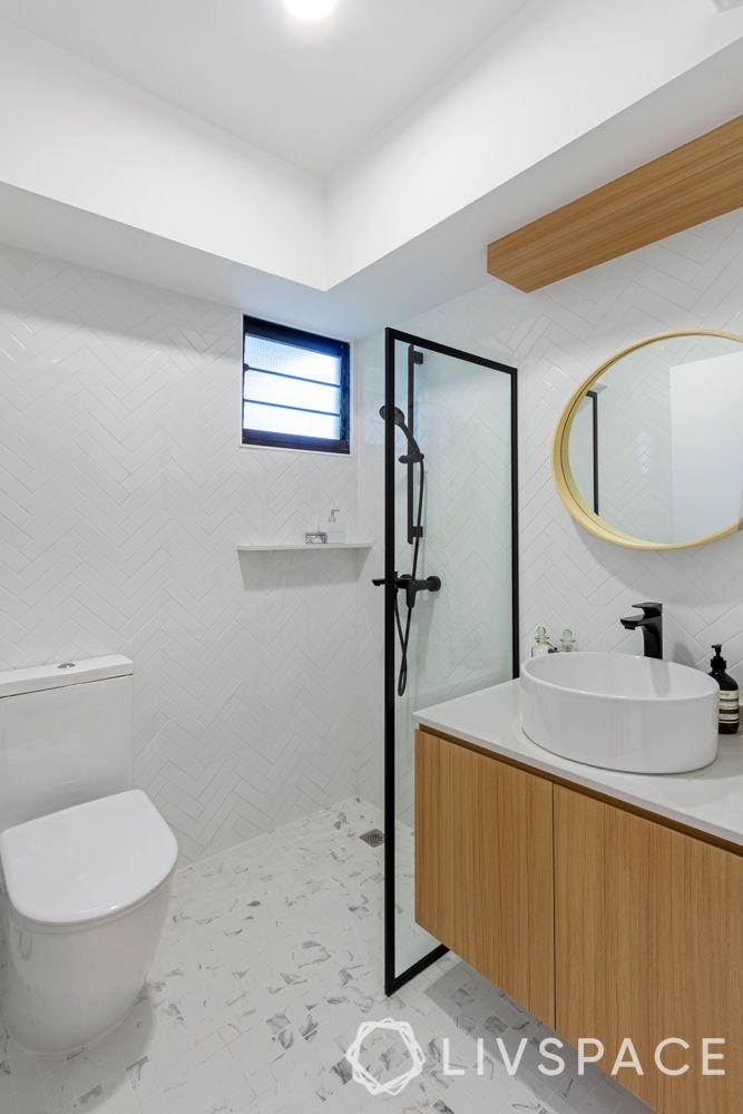 hdb renovation-white toilet-vanity unit
