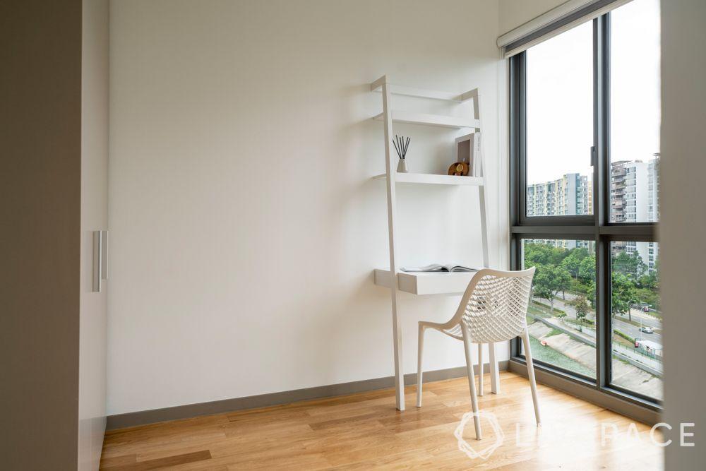 renovation cost singapore-white ladder unit-wooden flooring