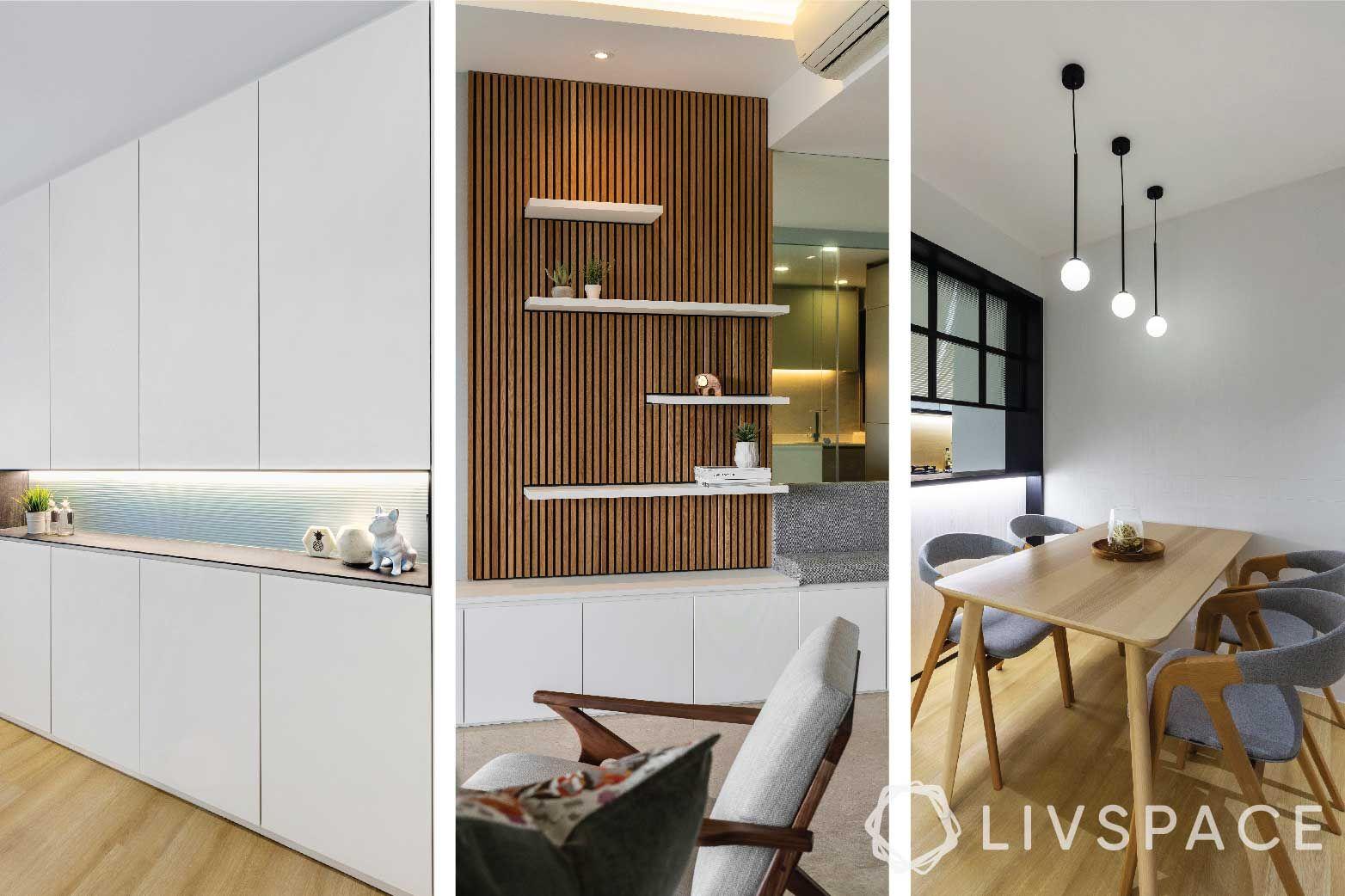 open shelving-partition designs