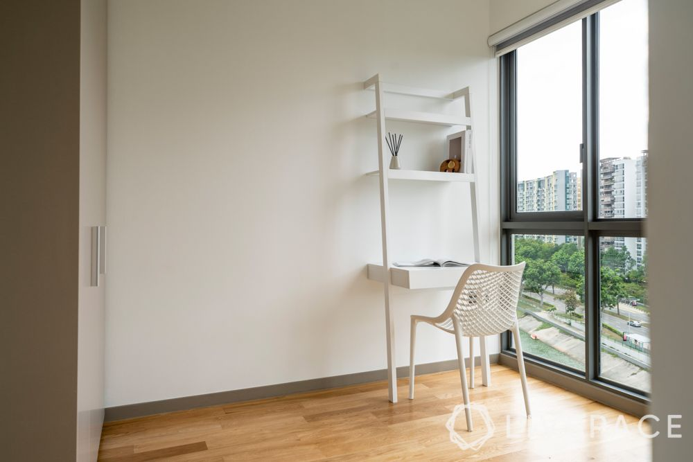 wood flooring-white unit-minimalism