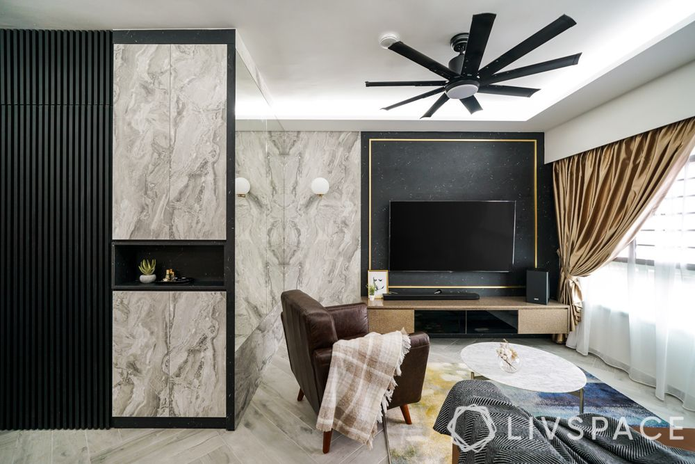 3 room bto design-laminate flooring-fluted wall panel-mirror wall panel