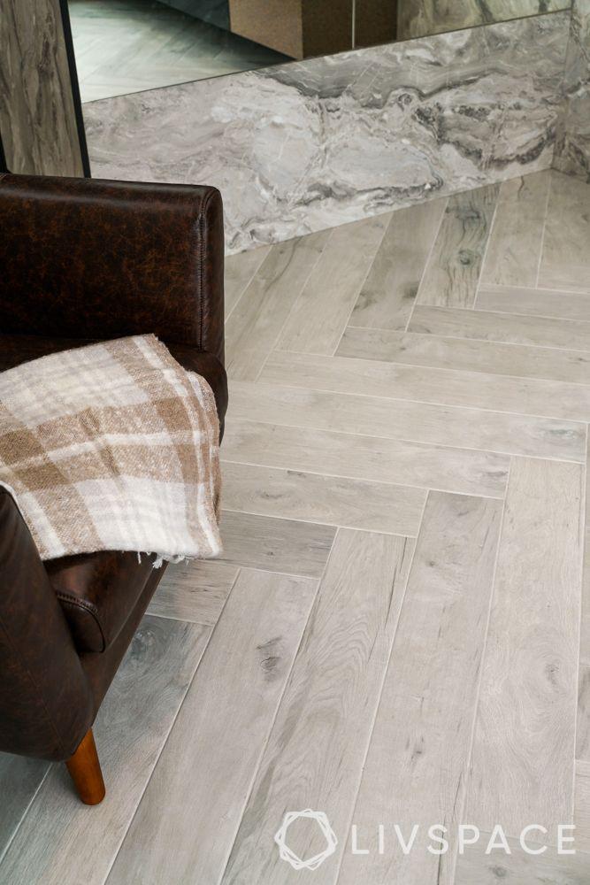 3 room bto design-laminate flooring-herringbone pattern flooring