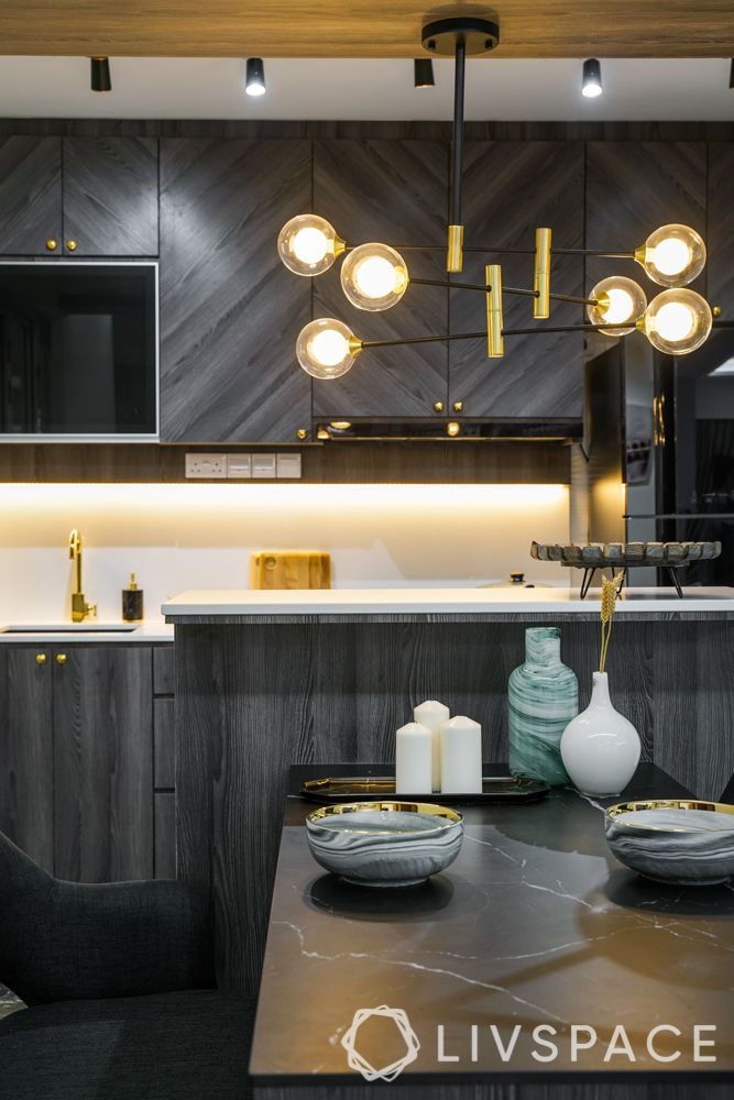 small HDB design-pendant light-profile light under cabinet