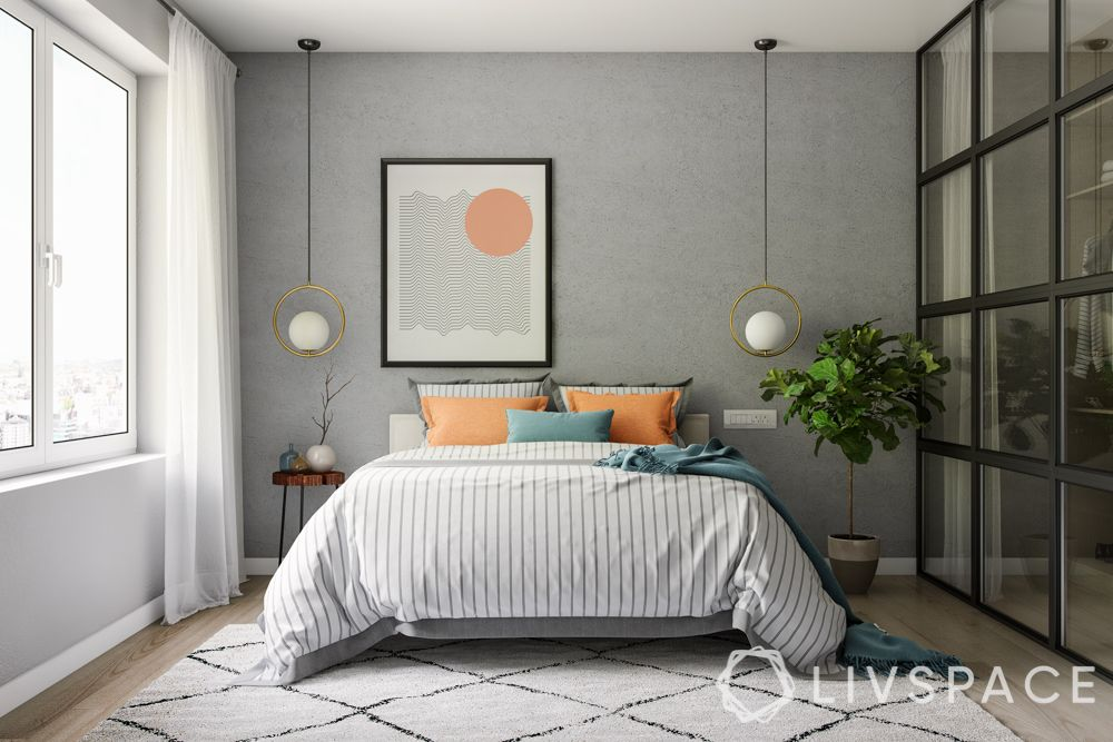 ideas for small bedrooms-plants-greenery