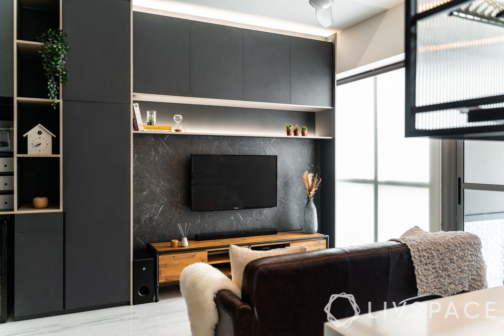 tv-wall-design-black-compact-home-marble-finish-vertical-space