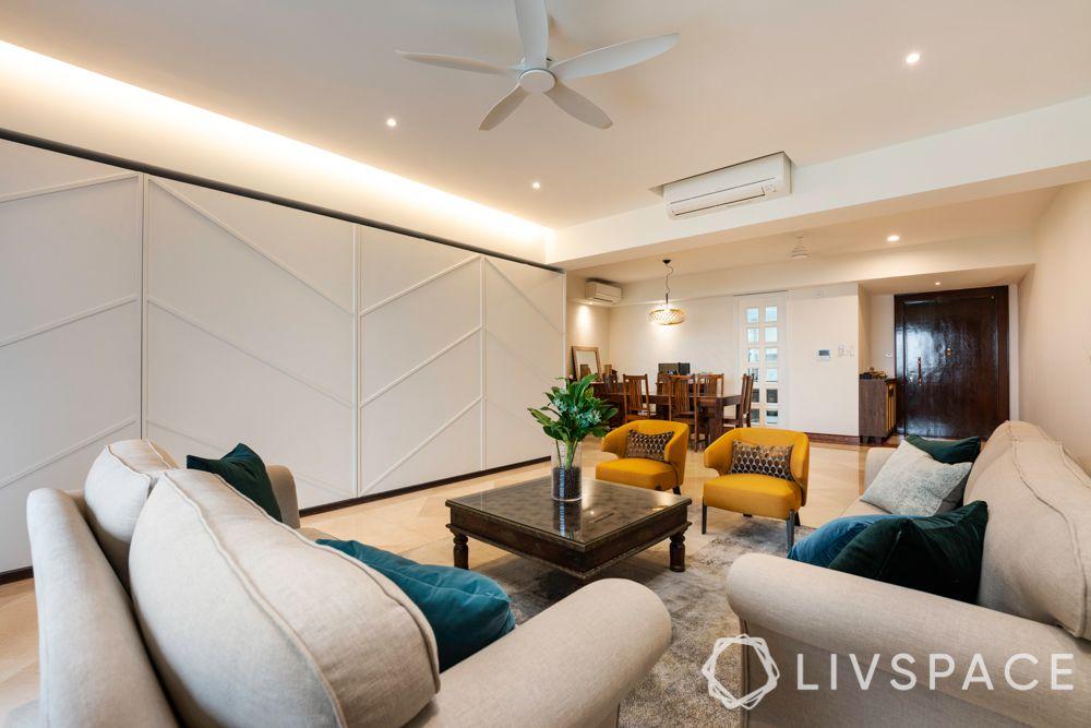 false ceiling-cove lighting-recessed lights