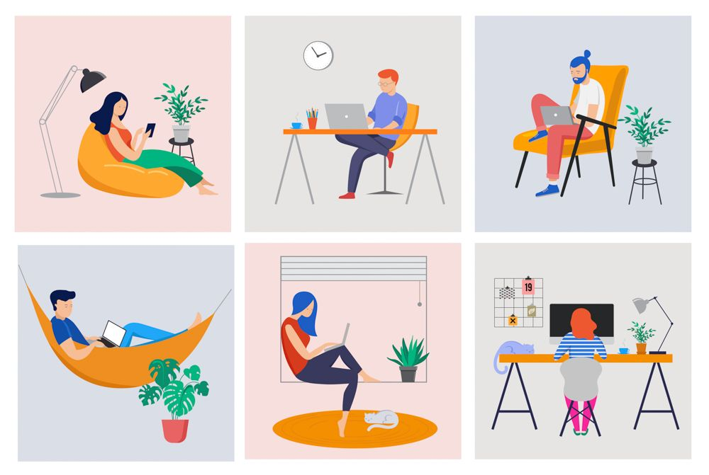 home office-work-from-home-illustration