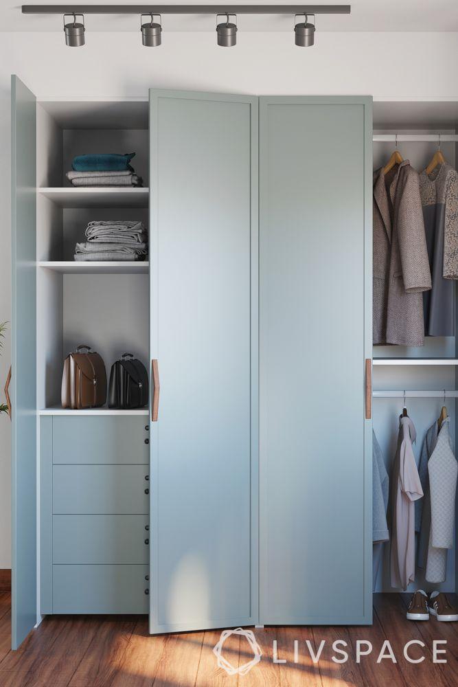 wardrobe designs for bedroom-minimal-swing door-internal accessories