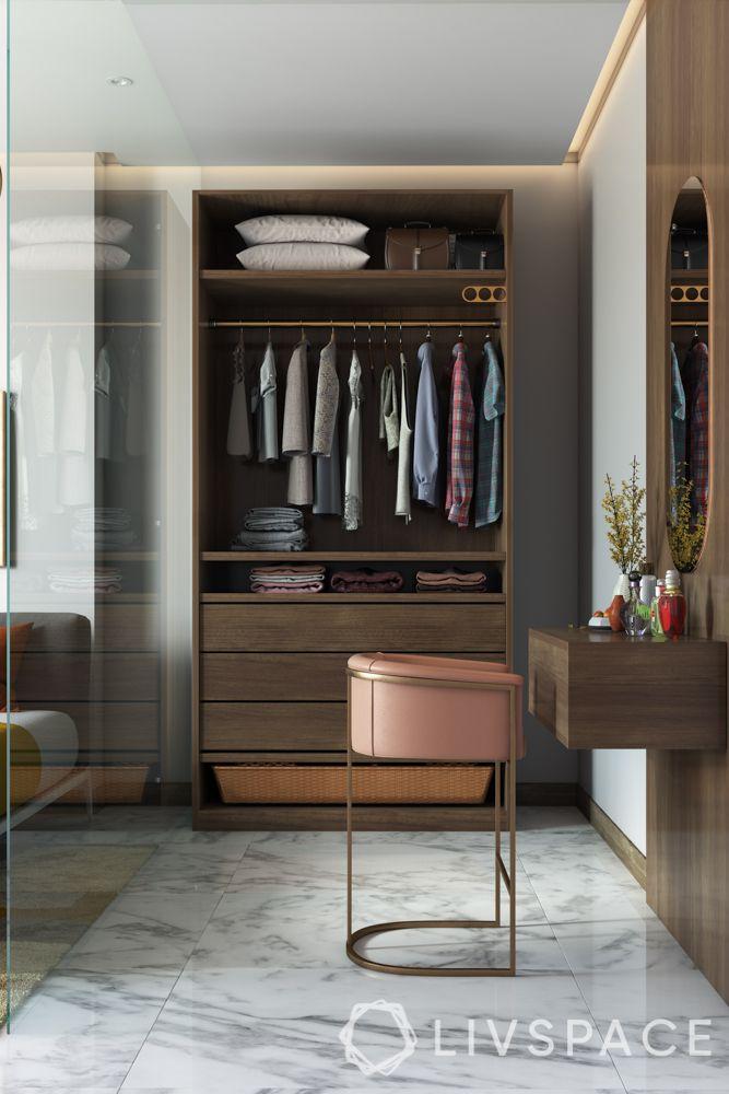 wardrobe designs for bedroom-wardrobe-cum-dresser-glass partition