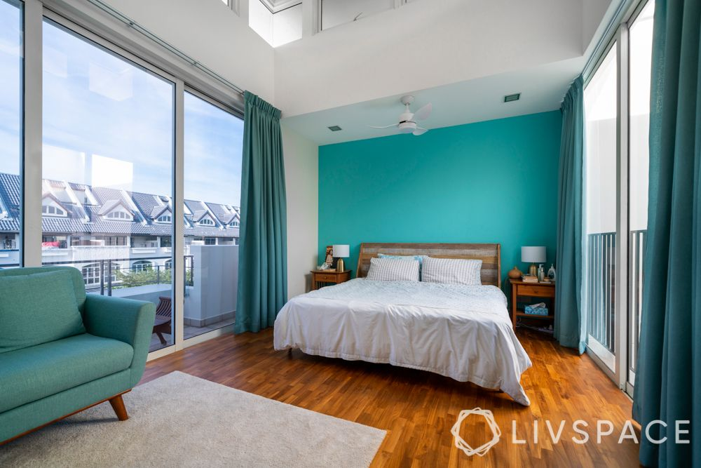 room-paint-ideas-teal-centre-wall-bedroom