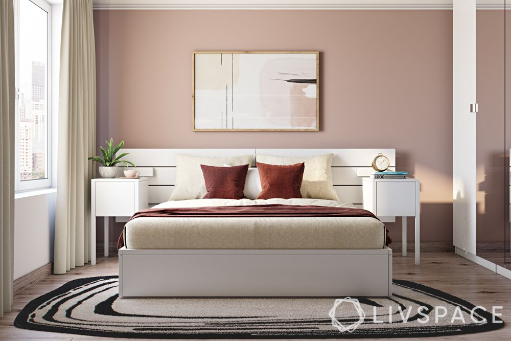 pale-pink-colour-bedroom-white-bed