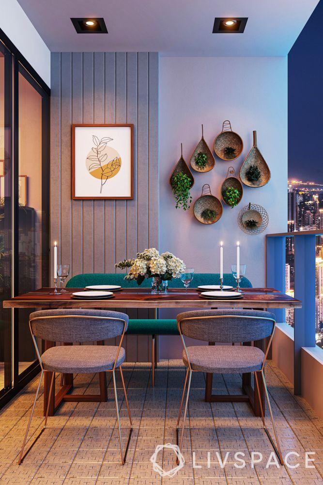 balcony designs-lighting-seating-planters