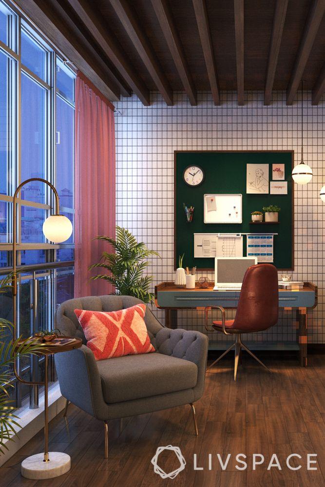 lighting-seating-planters-study unit-desk