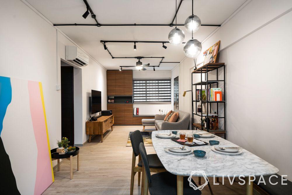 3-room-flat-low-budget-pendant-lights