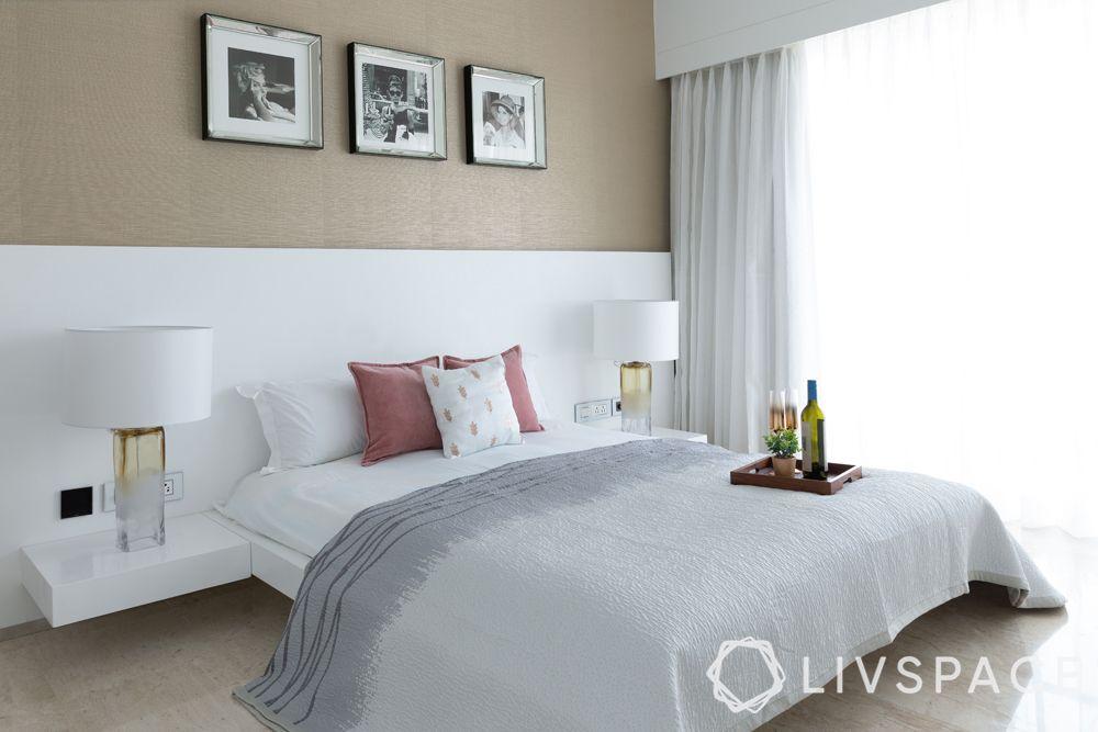 minimal interior design-floating bed