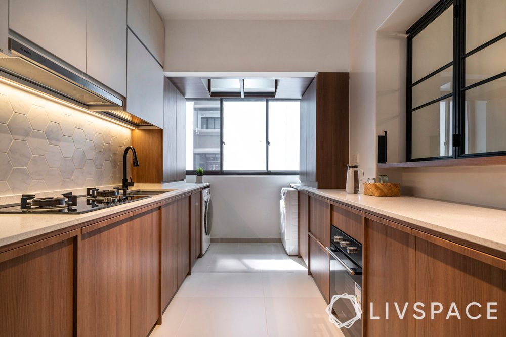 minimal kitchen-parallel kitchen