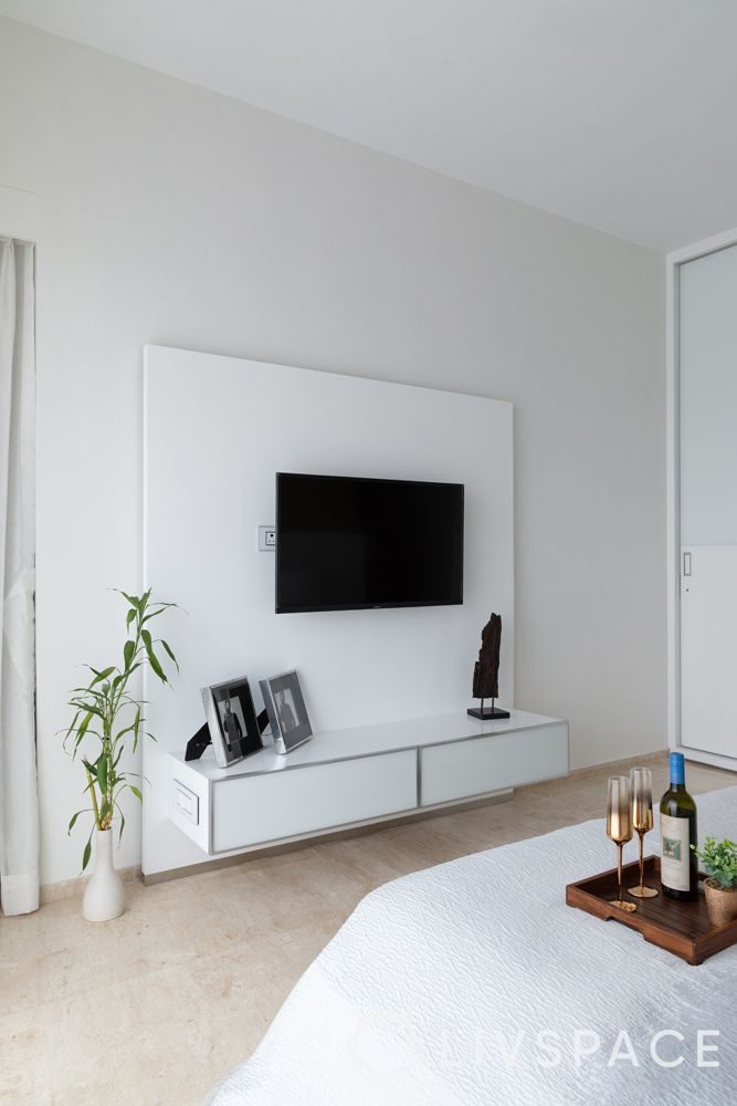 minimal tv unit-white tv unit