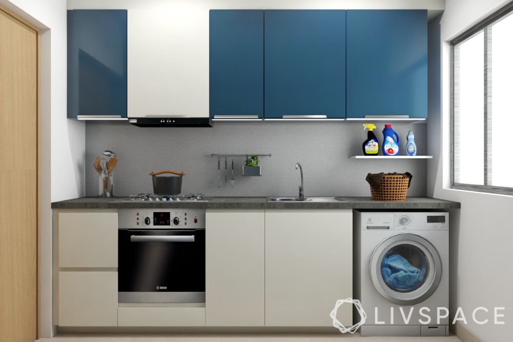 hdb bto package-blue and white kitchen
