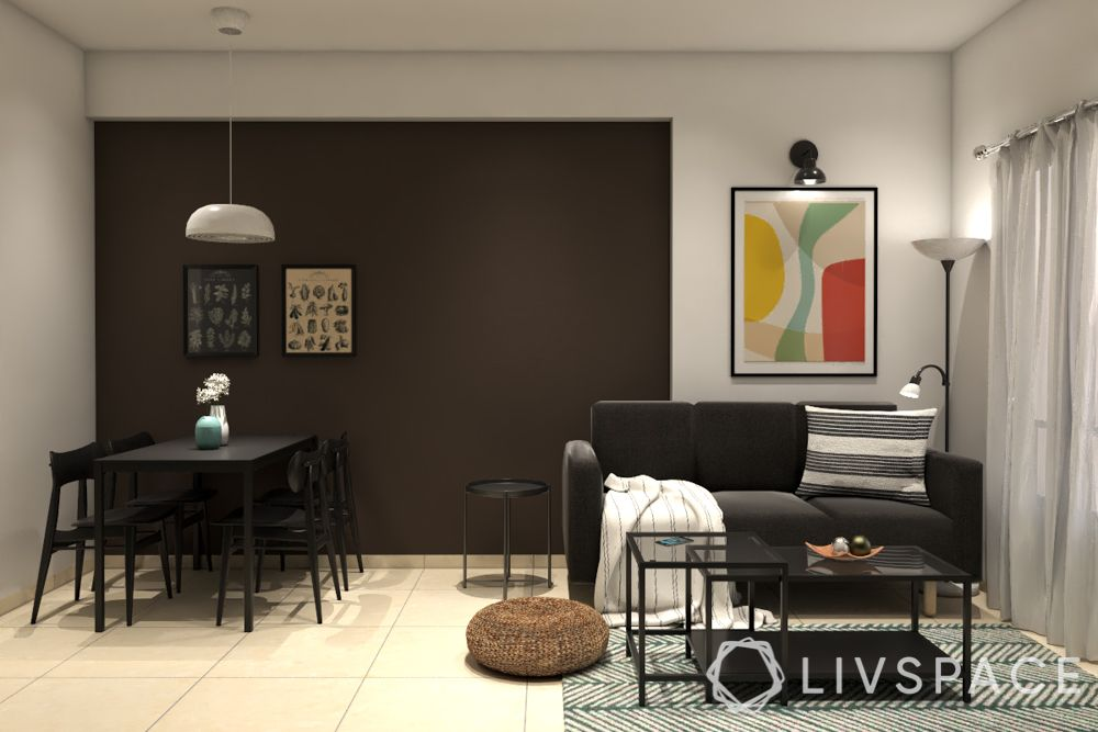 hdb bto package-black couch-metal table