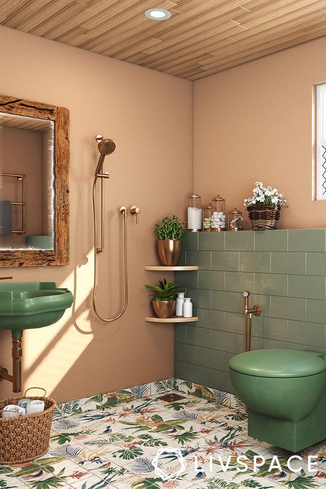 small-bathroom-ideas-floor-pattern-tropical-print