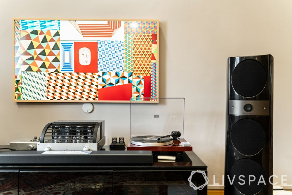 tv-console-design-glossy-black-table