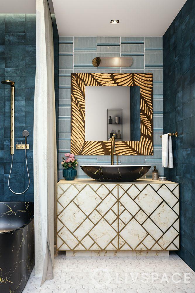 bathroom-colours-cobalt-blue-wall-tiles-golden-mirror