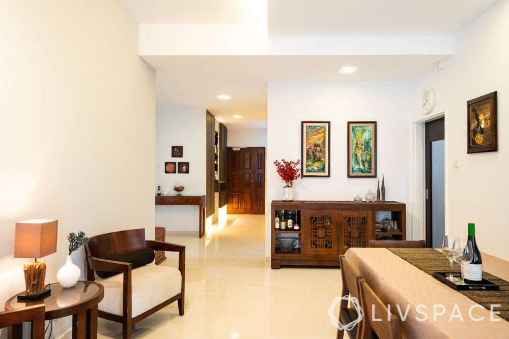3-bedroom-condo-foyer-dining-wooden-furniture