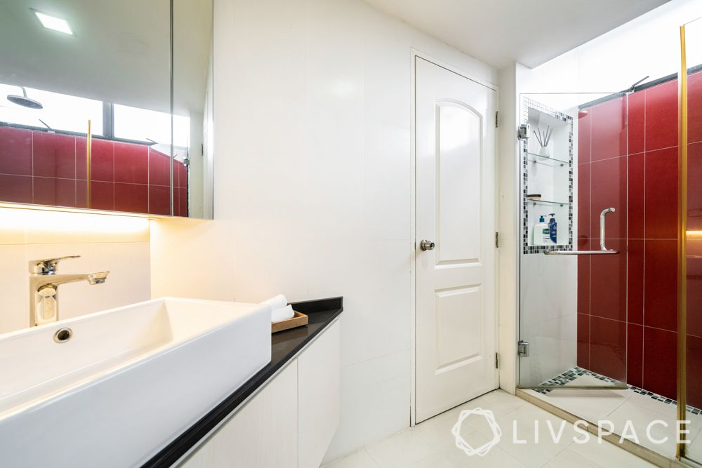 3-bedroom-condo-bathroom-red-tiles-shower-area