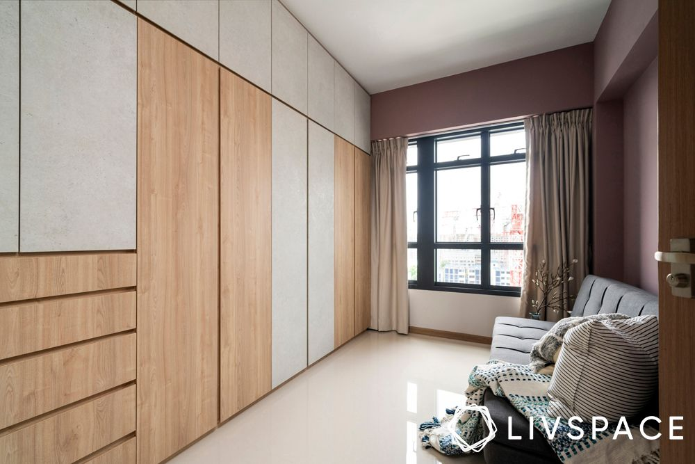 built-in-wardrobes-light-wood-laminate-shutters
