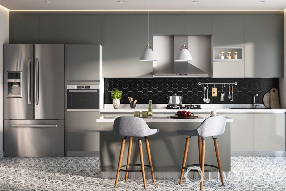 scandinavian-kitchen-grey-cabinets-island-pendant-lights