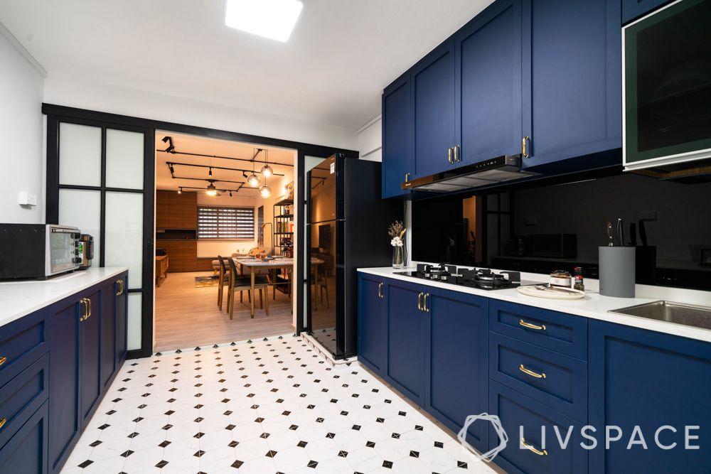 design-interior-singapore-kitchen-blue-cabinets-black-backsplash