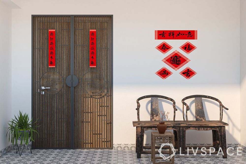 chinese-new-year-2021-door-couplets-entrance-bench