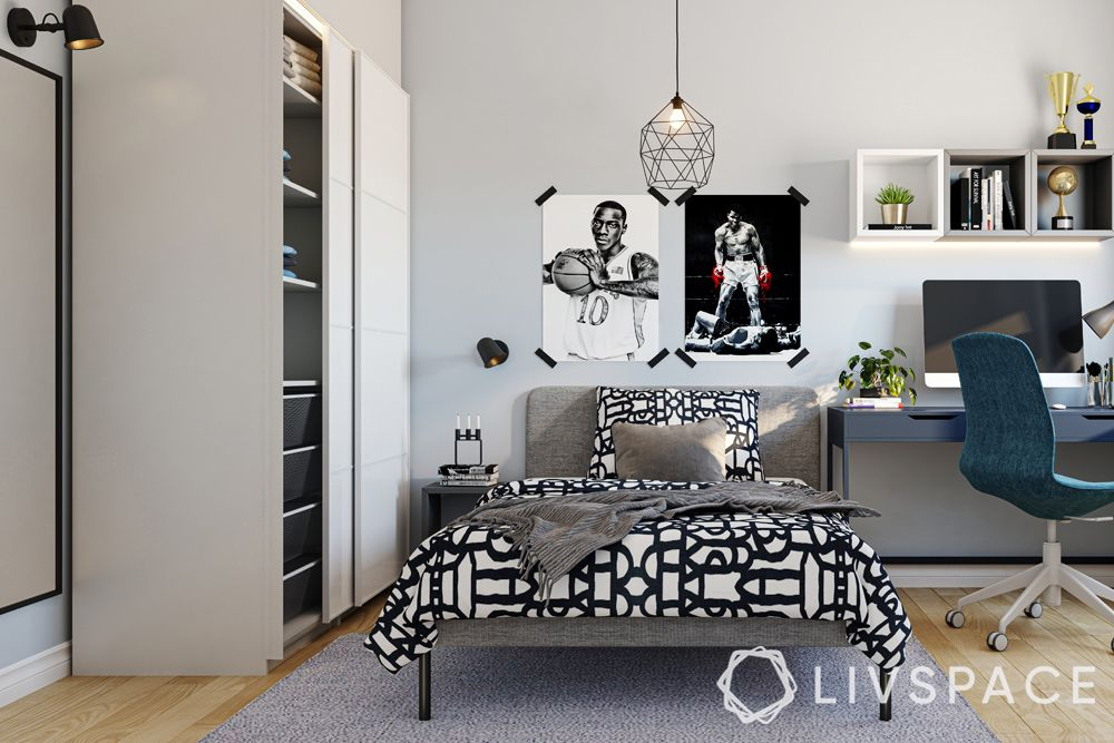 design-singapore-son-bedroom-study-table-upholstered-bed-ikea