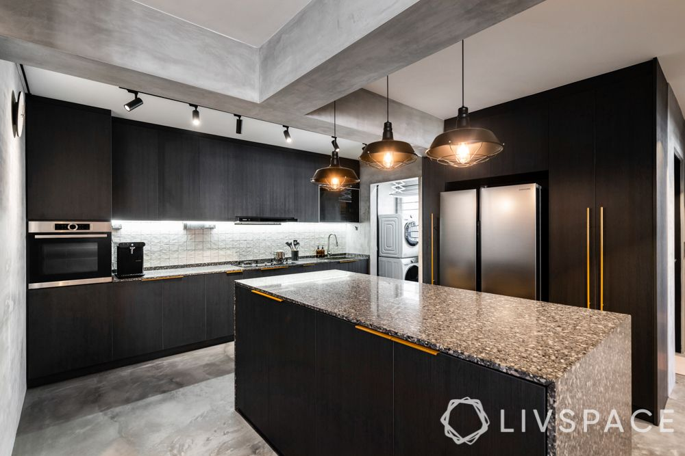 designs-of-kitchen-industrial-brown-cabinets-island-metallic-handles